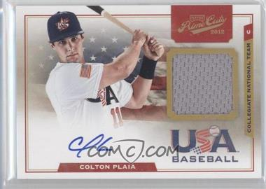 2012 Playoff Prime Cuts USA Collegiate National Team Jersey Signatures #15 - Colton Plaia /199
