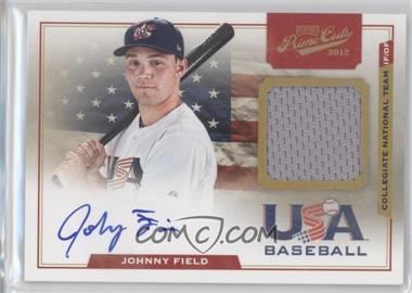 2012 Playoff Prime Cuts USA Collegiate National Team Jersey Signatures #8 - Johnny Field /199