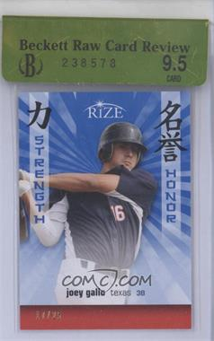2012 Rize Strength and Honor Blue #SH-7 - Joey Gallo /25