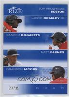 Jackie Bradley Jr., Xander Bogaerts, Matt Barnes, Brandon Jacobs /25