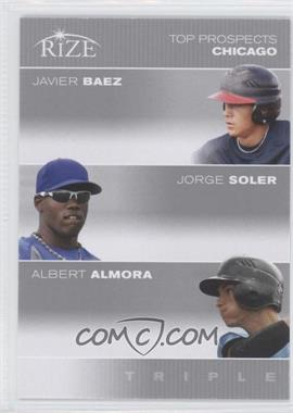2012 Rize Top Prospects Triple #N/A - Javier Baez, Jorge Soler, Albert Almora