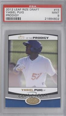 2012 Rize of the Prodigy #PRO-15 - Yasiel Puig [PSA 9]