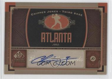 2012 SP Signature Collection - [Base] - [Autographed] #ATL 3 - Chipper Jones