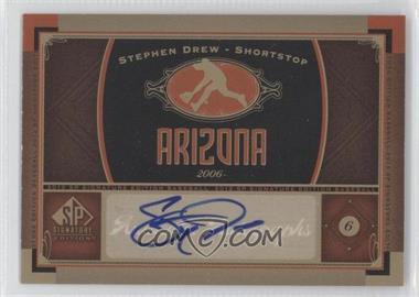 2012 SP Signature Collection - [Base] - [Autographed] #AZ 1 - Stephen Drew