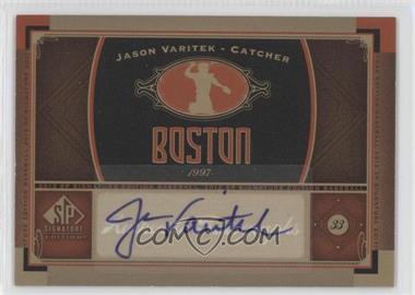 2012 SP Signature Collection - [Base] - [Autographed] #BOS 12 - Jason Varitek