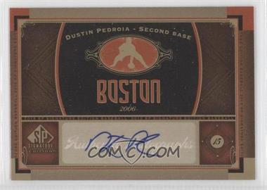 2012 SP Signature Collection - [Base] - [Autographed] #BOS 16 - Dustin Pedroia