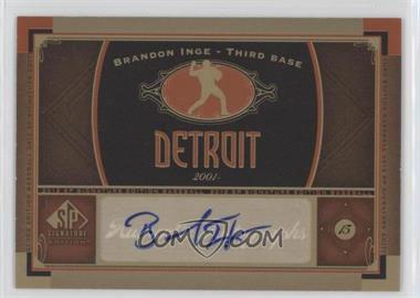 2012 SP Signature Collection - [Base] - [Autographed] #DET 3 - Brandon Inge