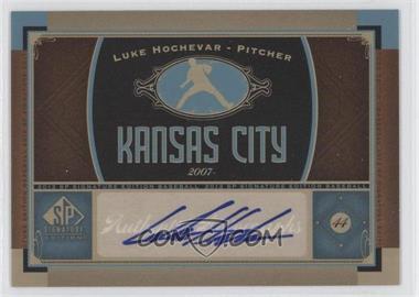 2012 SP Signature Collection - [Base] - [Autographed] #KC 6 - Luke Hochevar