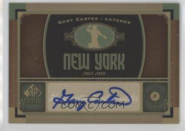 2012 SP Signature Collection - [Base] - [Autographed] #NYM 5 - Gary Carter
