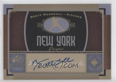 2012 SP Signature Collection - [Base] - [Autographed] #NYY 18 - Brett Marshall