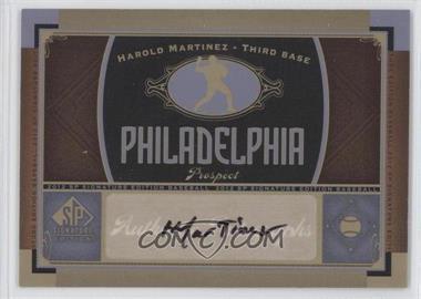 2012 SP Signature Collection - [Base] - [Autographed] #PHI 12 - Harold Martinez