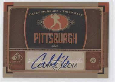 2012 SP Signature Collection - [Base] - [Autographed] #PIT 4 - Casey McGehee