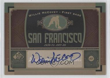 2012 SP Signature Collection - [Base] - [Autographed] #SF 3 - Willie McCovey