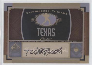 2012 SP Signature Collection - [Base] - [Autographed] #TEX 8 - Tommy Mendonca
