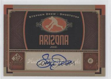 2012 SP Signature Collection [Autographed] #AZ 1 - Stephen Drew
