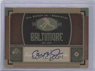 2012 SP Signature Collection [Autographed] #BAL 2 - Cal Ripken Jr.