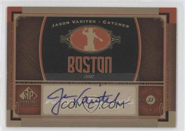 2012 SP Signature Collection [Autographed] #BOS 12 - Jason Varitek