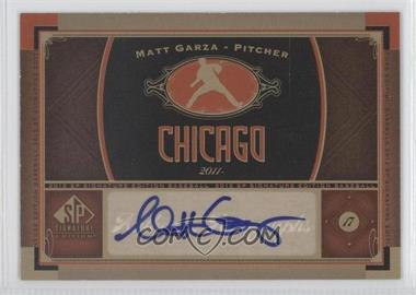 2012 SP Signature Collection [Autographed] #CHC 9 - Matt Garza
