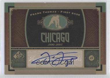 2012 SP Signature Collection [Autographed] #CHW 2 - Frank Thomas