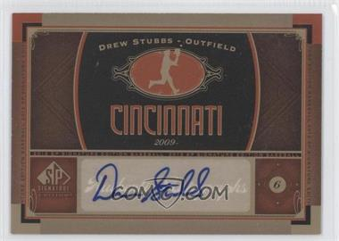 2012 SP Signature Collection [Autographed] #CIN 4 - Drew Stubbs