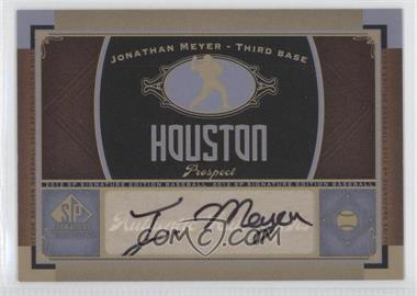2012 SP Signature Collection [Autographed] #HOU 9 - Jonathan Meyer
