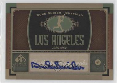 2012 SP Signature Collection [Autographed] #LA 1 - Duke Snider