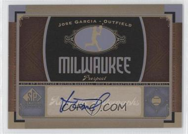 2012 SP Signature Collection [Autographed] #MIL 10 - Jose Garcia