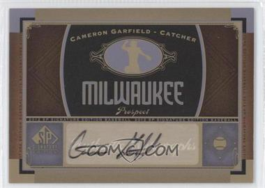 2012 SP Signature Collection [Autographed] #MIL 8 - Cameron Garfield