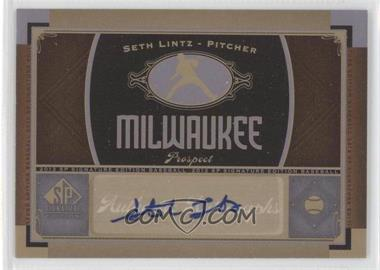 2012 SP Signature Collection [Autographed] #MIL 9 - Seth Lintz