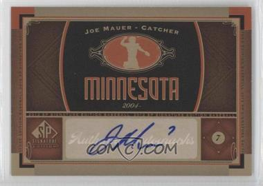2012 SP Signature Collection [Autographed] #MIN 4 - Joe Mauer