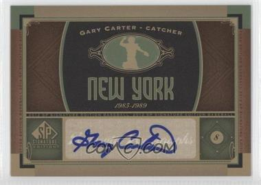 2012 SP Signature Collection [Autographed] #NYM 5 - Gary Carter