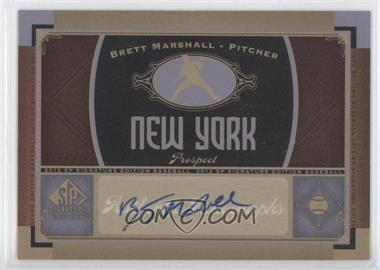 2012 SP Signature Collection [Autographed] #NYY 18 - Brett Marshall