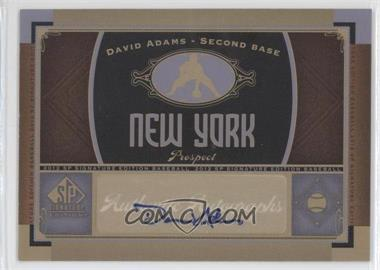 2012 SP Signature Collection [Autographed] #NYY 20 - David Adams
