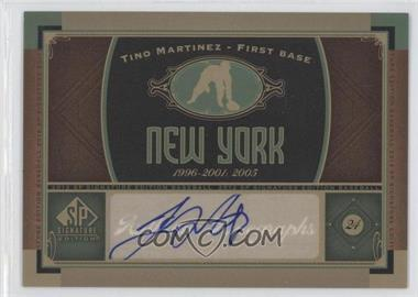 2012 SP Signature Collection [Autographed] #NYY 9 - Tino Martinez