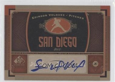 2012 SP Signature Collection [Autographed] #SD 4 - Edinson Volquez