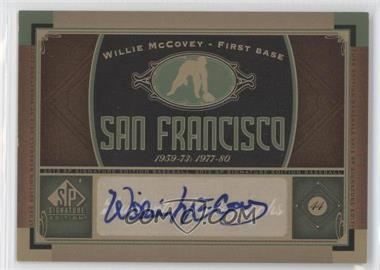 2012 SP Signature Collection [Autographed] #SF 3 - Willie McCovey