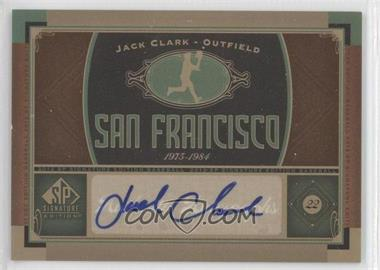 2012 SP Signature Collection [Autographed] #SF 7 - Jack Clark