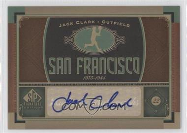 2012 SP Signature Collection [Autographed] #SF 7 - Jack Clark