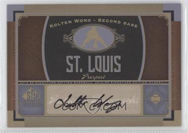 2012 SP Signature Collection [Autographed] #STL 10 - Kolten Wong