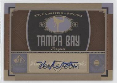 2012 SP Signature Collection [Autographed] #TB 13 - Kyle Lobstein