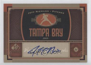 2012 SP Signature Collection [Autographed] #TB 3 - Jeff Niemann