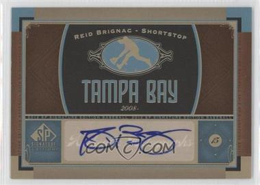 2012 SP Signature Collection [Autographed] #TB 8 - Reid Brignac