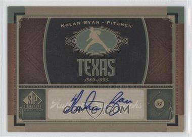 2012 SP Signature Collection [Autographed] #TEX 1 - Nolan Ryan