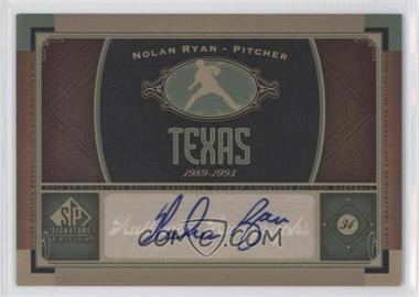 2012 SP Signature Collection [Autographed] #TEX 1 - Nolan Ryan