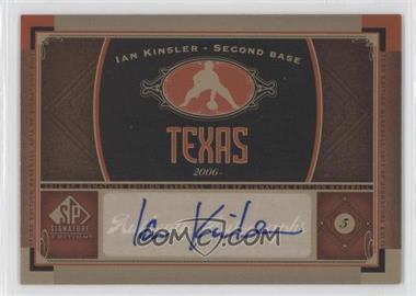 2012 SP Signature Collection [Autographed] #TEX 2 - Ian Kinsler