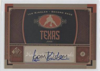 2012 SP Signature Collection [Autographed] #TEX 2 - Ian Kinsler