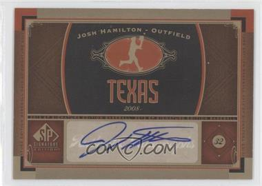 2012 SP Signature Collection [Autographed] #TEX 4 - Josh Hamilton