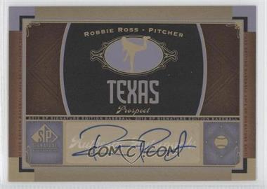 2012 SP Signature Collection [Autographed] #TEX 7 - Robbie Ross