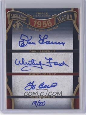 2012 SP Signature Edition - [???] #SS3-56WS - Don Larsen, Whitey Ford, Yogi Berra /20