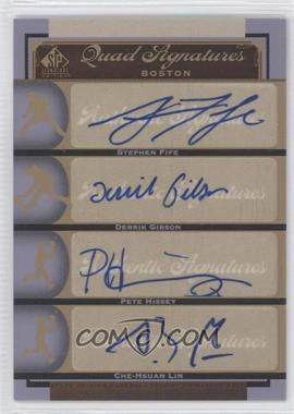 2012 SP Signature Edition - [Base] #BOS37 - Stephen Fife, Che-Hsuan Lin, Derrik Gibson, Peter Hissey